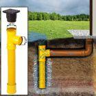 Mit diesem Sickerschacht Ø 110 mm mit Zufluss/Abfluss kann das Regenwasser an Orte, wo zum Beispiel keinen Abwasserkanal ist, aufgefangen werden.