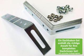 Ein Dachhaken-Set für PVC Rinnen, enthält die richtige Anzahl für Ihre kompletten Dachrinnen Set! Inkl. eventuellen Verlängerungssets.