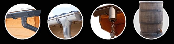Dachrinne Kunststoff | Dachrinne Zink | Regenkette | Regentonne